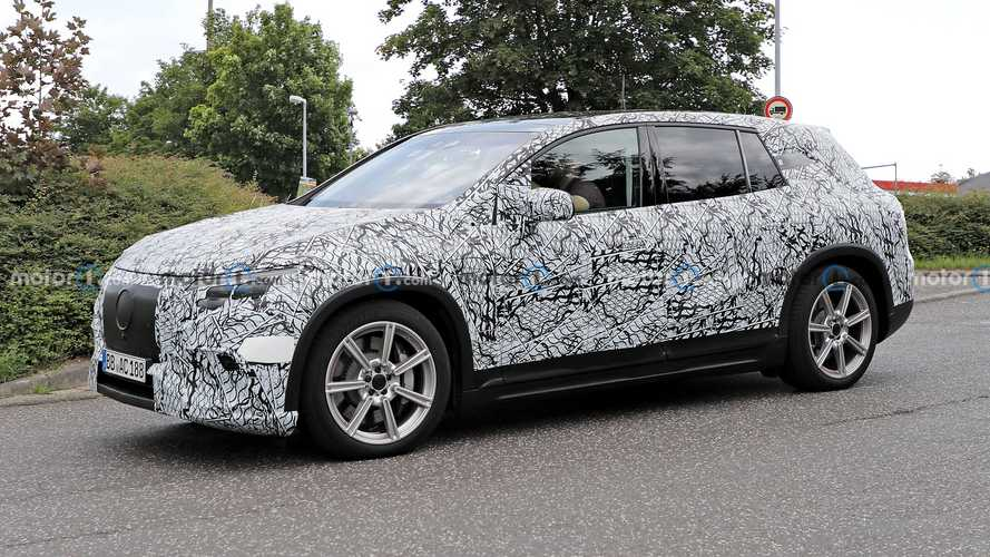 Mercedes EQS SUV Spied With Production Lights, Maybach Concept Coming Soon