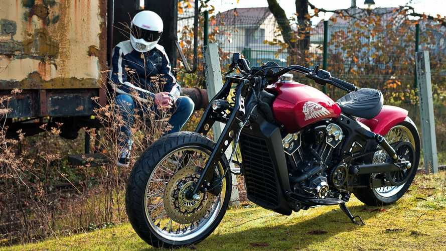 French Indian Motorcycle Dealer Whips Up Two Scout Bobber Customs