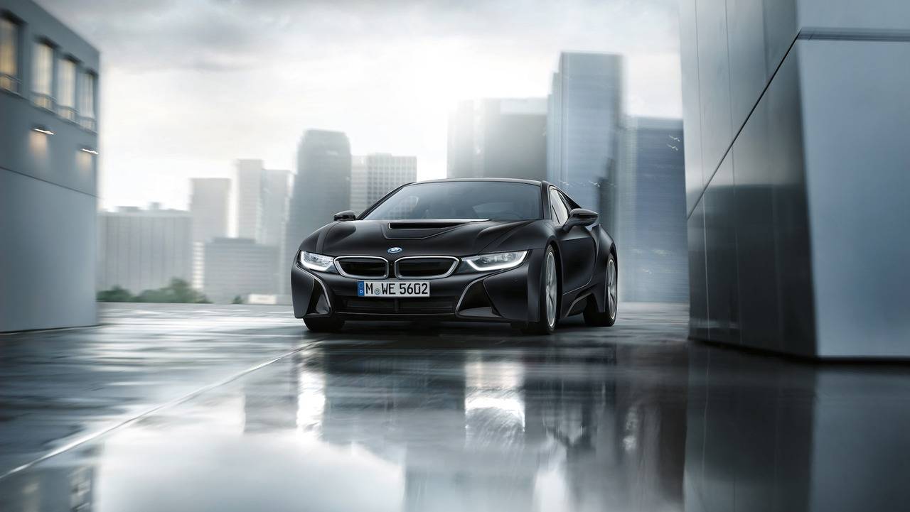 Bmw I8 Frozen Black And Yellow Photo Motor1 Com Canada