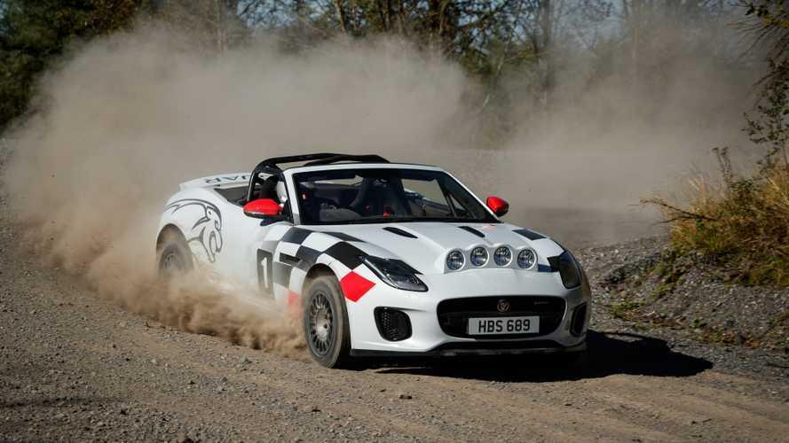 VIDÉO - La Jaguar F-Type cabriolet devient voiture de rallye