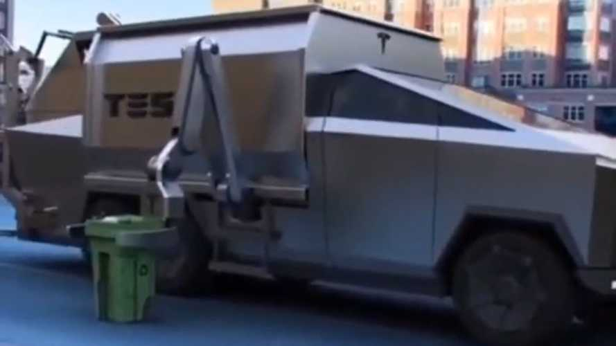 Tesla Cybertruck As The Ultimate Garbage Truck?