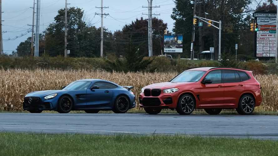 Mercedes-AMG GT R Faces Fearsome BMW X3 M Competition In Drag Race