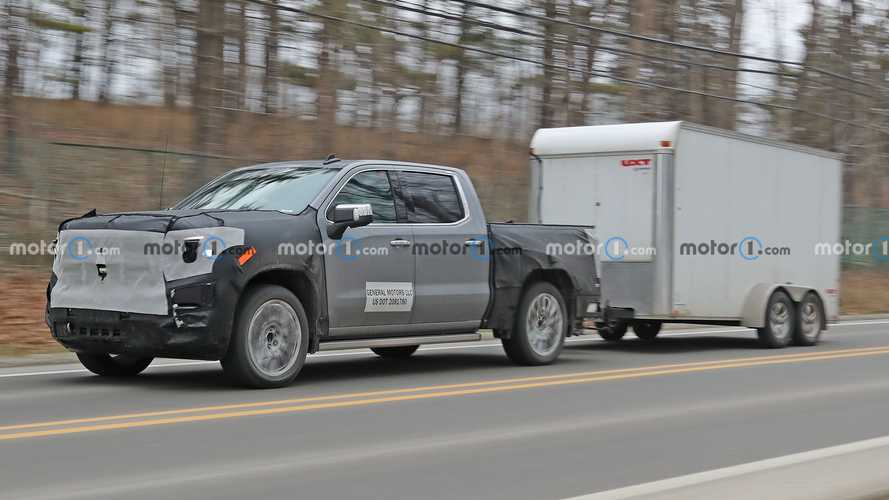 2022 GMC Sierra 1500 Denali Spied While Testing And Towing