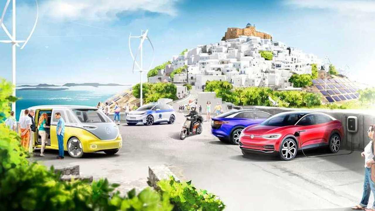 Volkswagen  электрифицирует греческий остров