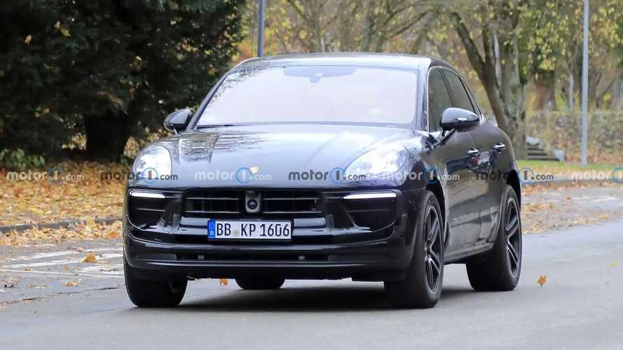 Porsche Macan facelift new spy photos