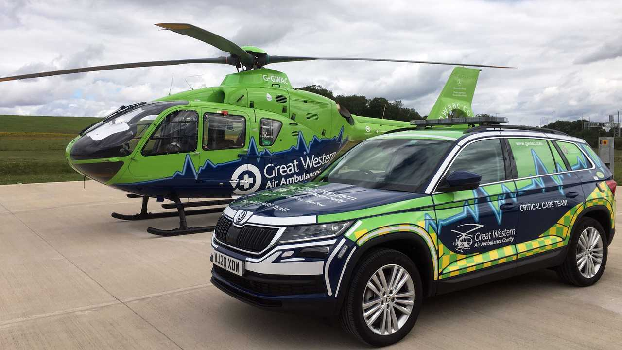 Skoda Kodiaq joins Great Western Air Ambulance Charity