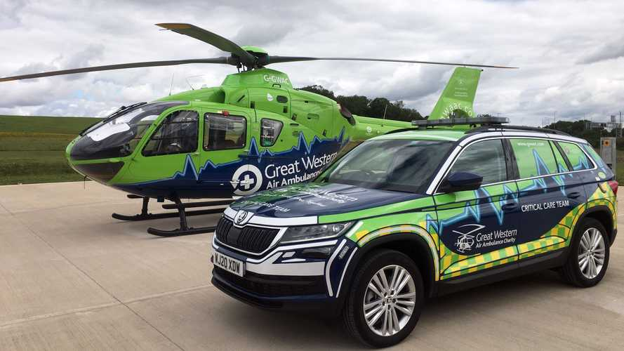 Skoda Kodiaq joins Great Western Air Ambulance Charity