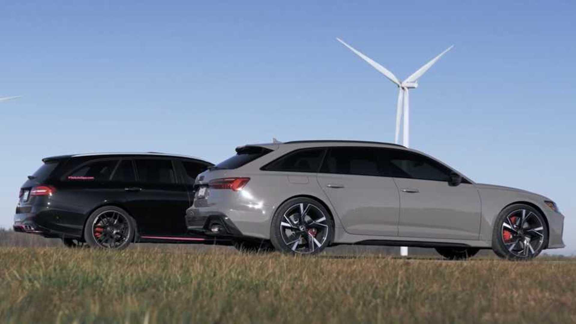 Mercedes-AMG E63 Drag Races Audi RS6 Avant For Wagon Supremacy