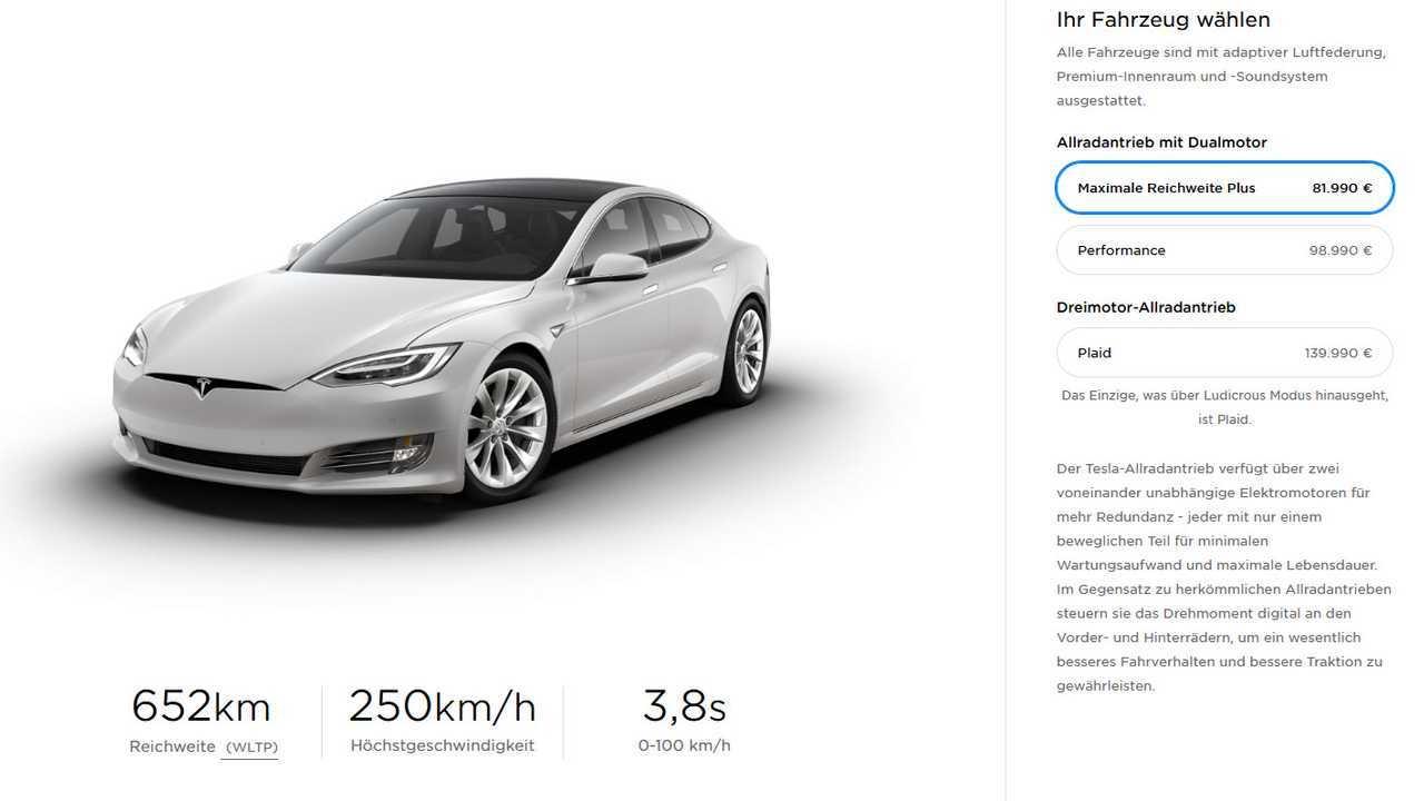 Tesla Model S offer - Germany 20201126