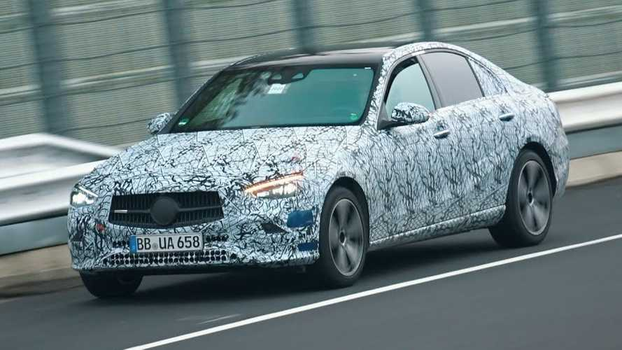 2022 Mercedes C-Class Spied Doing Warm-Ups At The Nurburgring