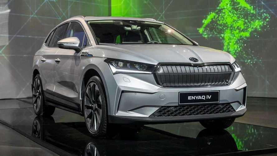Primo do VW ID.4, o SUV elétrico Skoda Enyaq aparece ao vivo pela 1ª vez