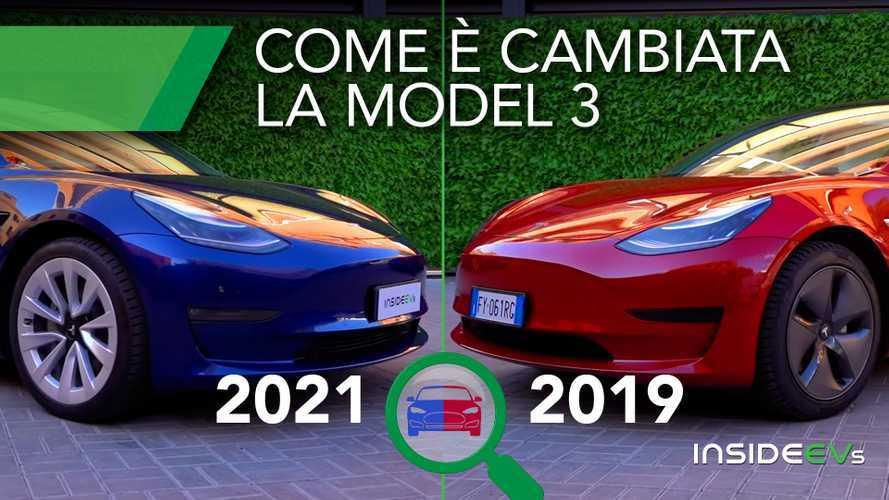 Tesla Model 3 2021: ecco cos'è cambiato con il facelift