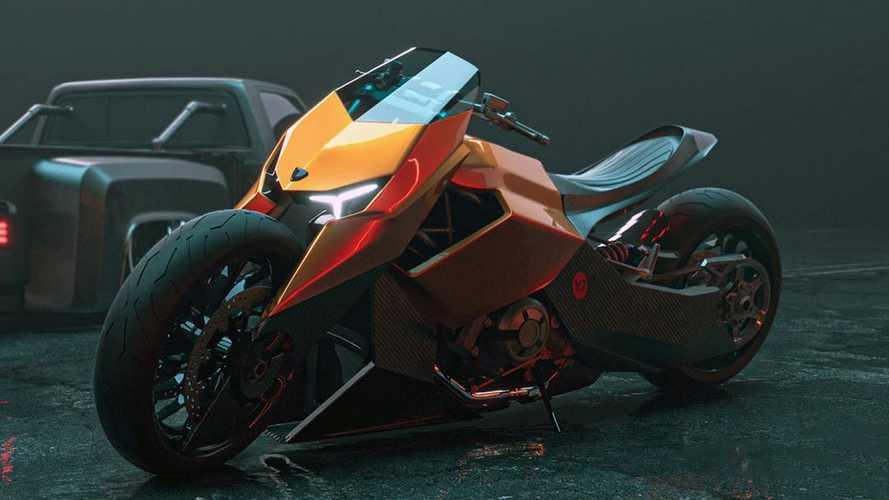 Hayali Lamborghini motosikleti tasarımını görün!
