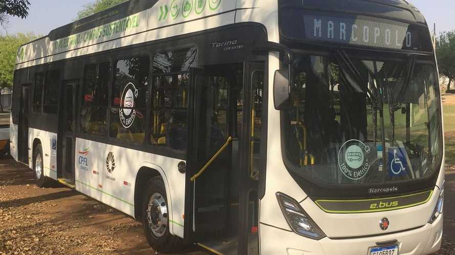 Ônibus 100% elétrico da chinesa BYD começa a circular na Unicamp