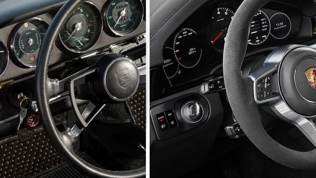 Porsche: замок зажигания слева от руля