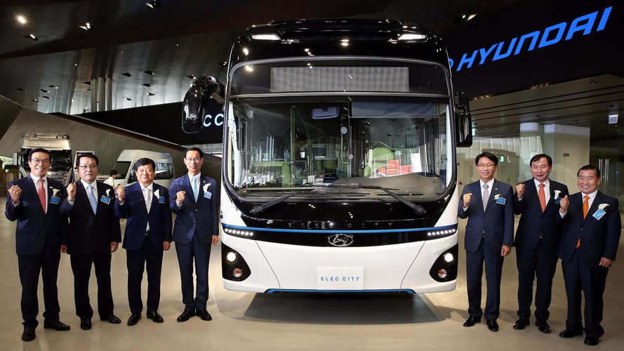 Hyundai Unveils Elec City Electric Bus With 180-Mile Range