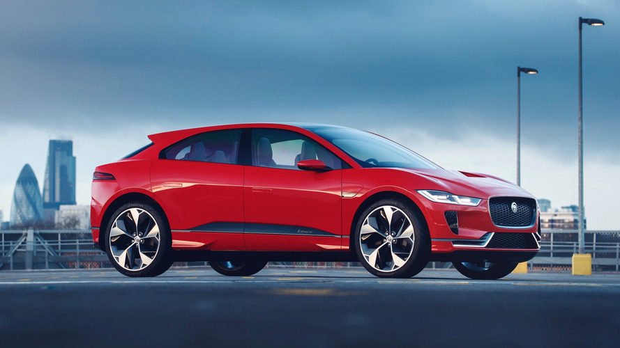 Jaguar I-Pace Concept dresses in red for European debut