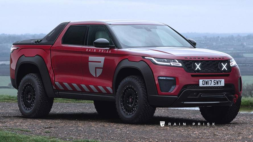 Range Rover Velar pickup render blends style with utility