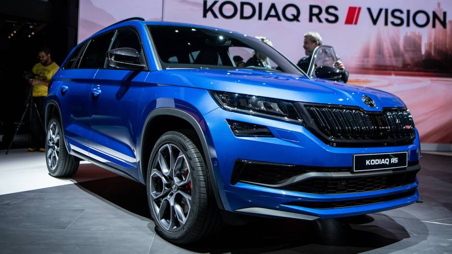 Skoda Kodiaq RS officially revealed ahead of Paris debut