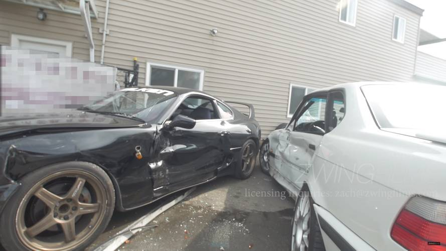 See This BMW M3 Sideswipe A Supra In Film Shoot Gone Wrong [UPDATE]
