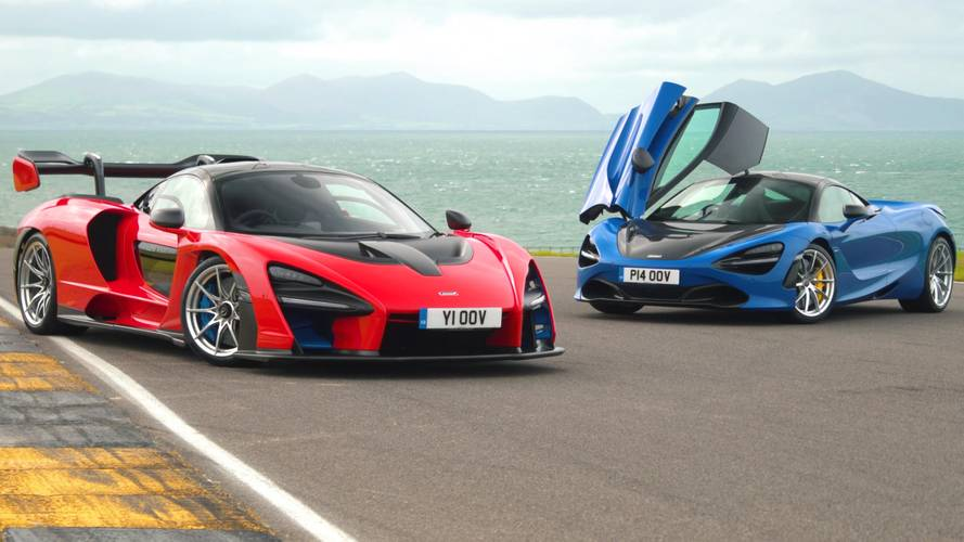 McLaren Senna and 720S race to 100 mph and back to a stop