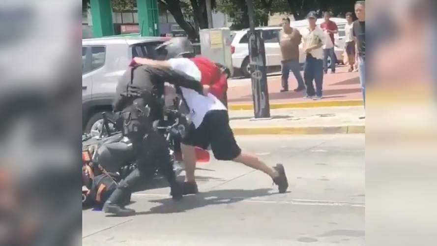 Watch Motorcyclist Fight Back Against The Law