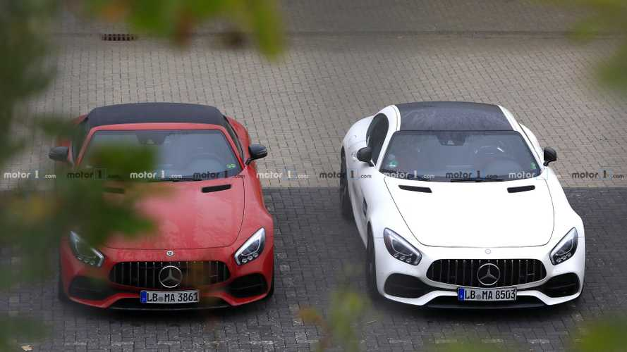 Mercedes-AMG GT Base Model spy photos