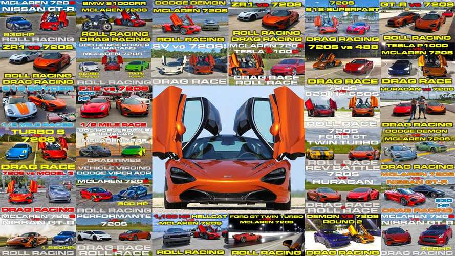 30 races in 15 minutes: McLaren 720S duels the supercar world