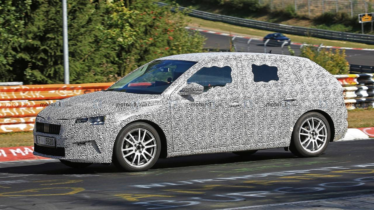 2020 Skoda Rapid successor spy photo
