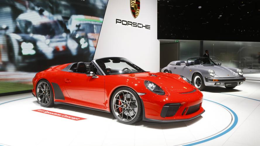 Porsche 911 Speedster concept II at the Paris Motor Show
