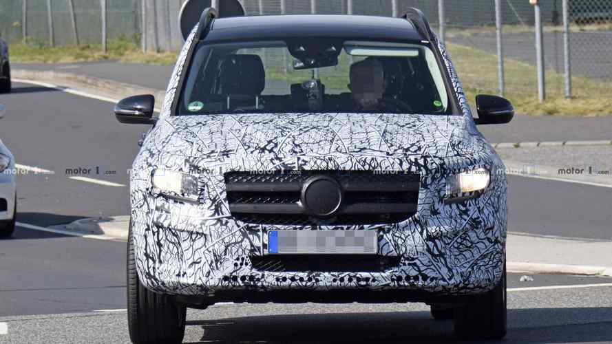 Mercedes GLB new spy photos including interior
