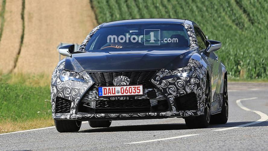 Lexus RC-F GT spy photos