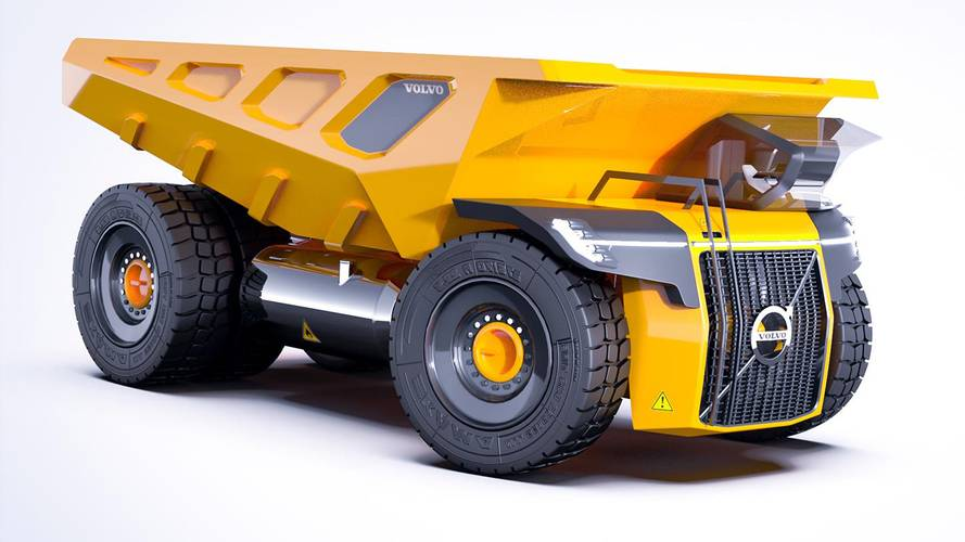 Turbine-Powered Volvo Dump Truck Rendered To Do All The Dirty Work