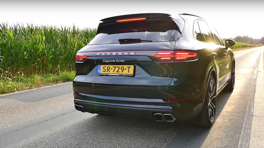 How long does it take to hit 191 mph in Porsche Cayenne Turbo?