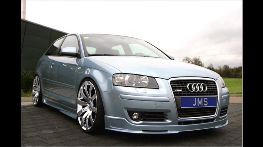 Mit glänzenden Rädern: JMS-Tuning für den Audi A3