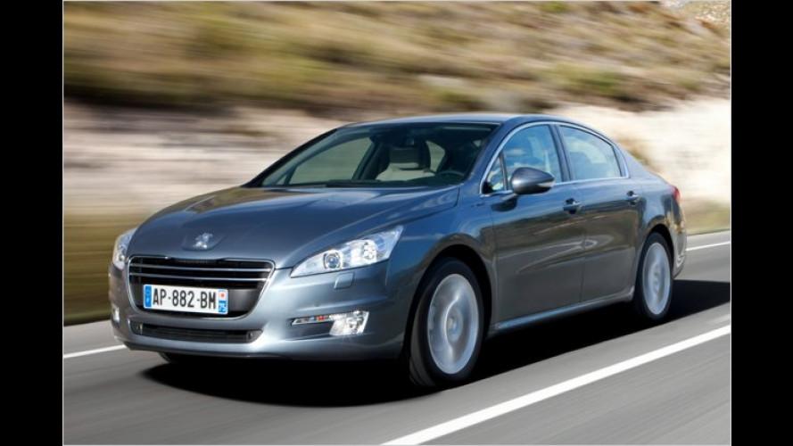 Peugeot 508 und 508 SW: 163-PS-Diesel mit Schaltung
