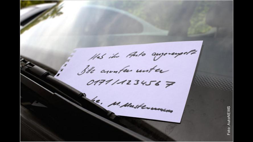 Parkrempler: Zettel an Scheibe reicht nicht