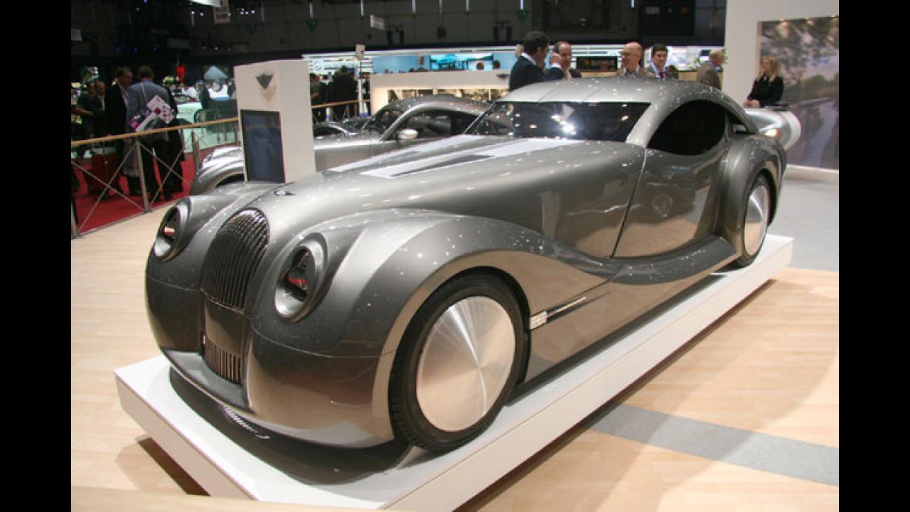 Wie aus Fritz Langs Metropolis: Das LifeCar vom Kleinserienhersteller Morgan setzt auf Brennstoffzellenantrieb
