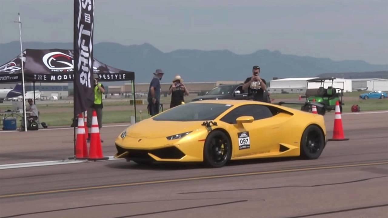 Lamborghini Huracán: velocidad en media milla