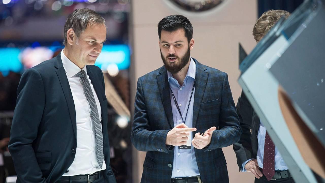 Oliver Blume et Mate Rimac