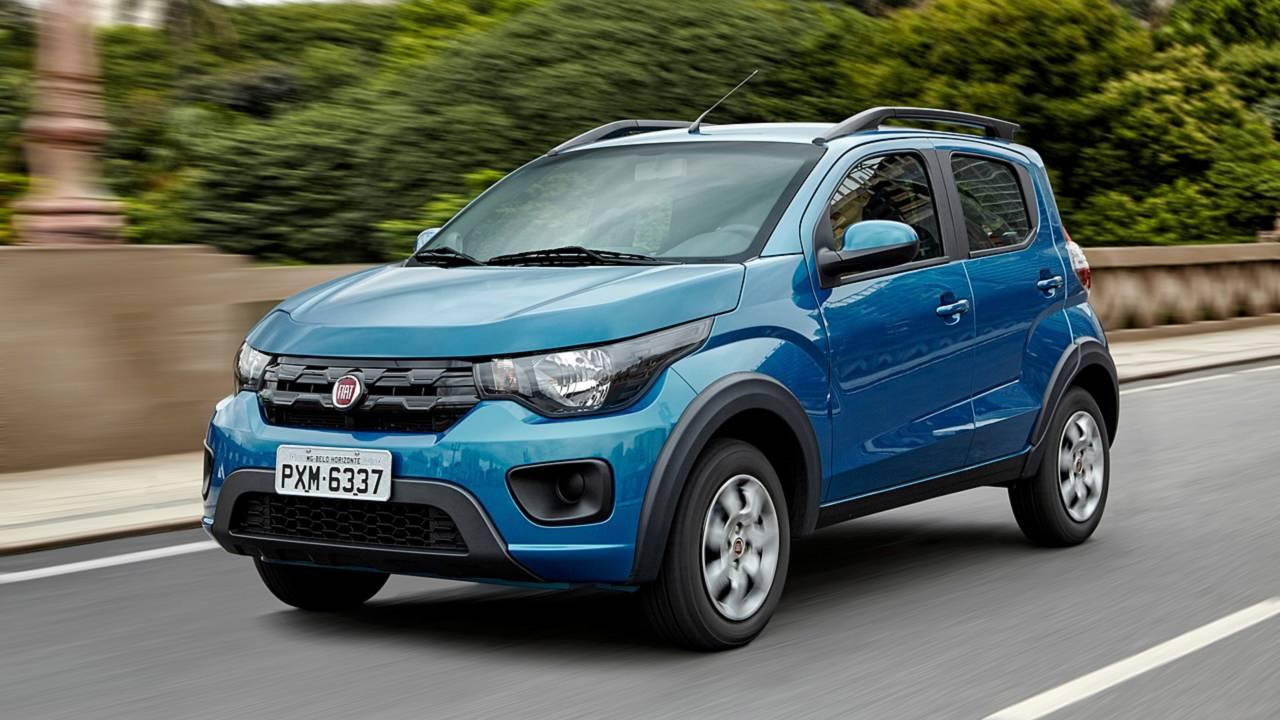 Mais vendidos na 1ª quinzena: VW Gol em 2º e Chevrolet Spin no top 10 Fiat-mobi-way