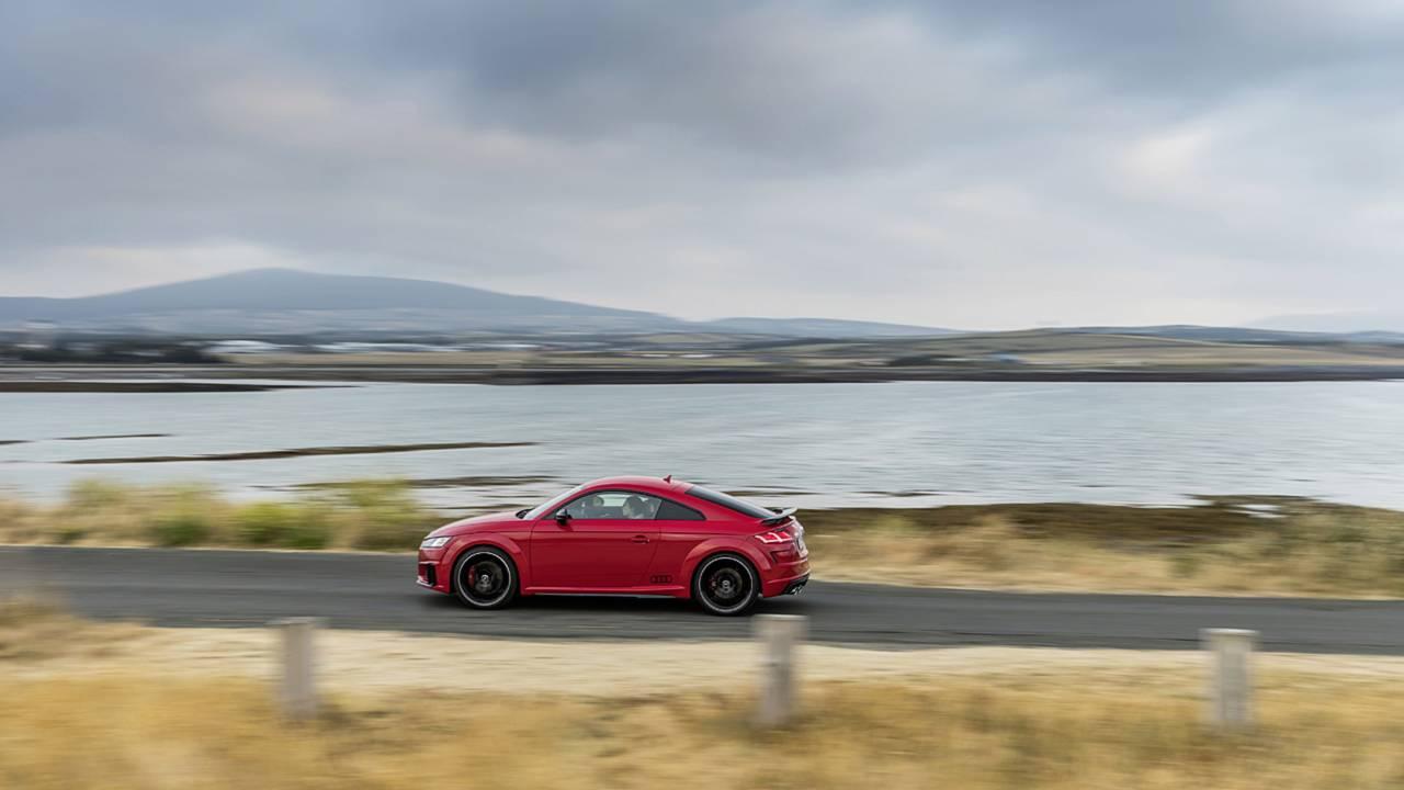 Audi TTS, остров Мэн