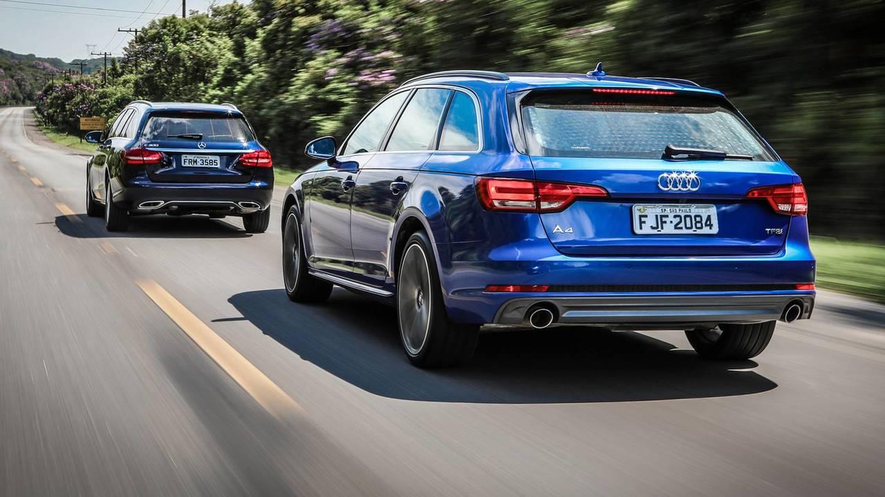 Audi A4 Avant x Mercedes C300 Estate abre