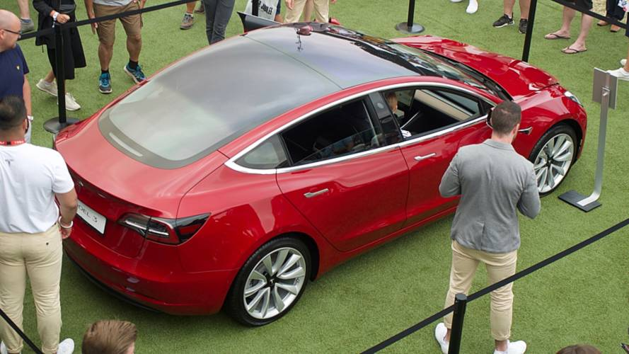Tesla Model 3 beim Festival of Speed de Goodwood 2018