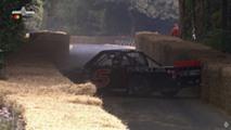 Goldberg NASCAR Toyota crash at Goodwood