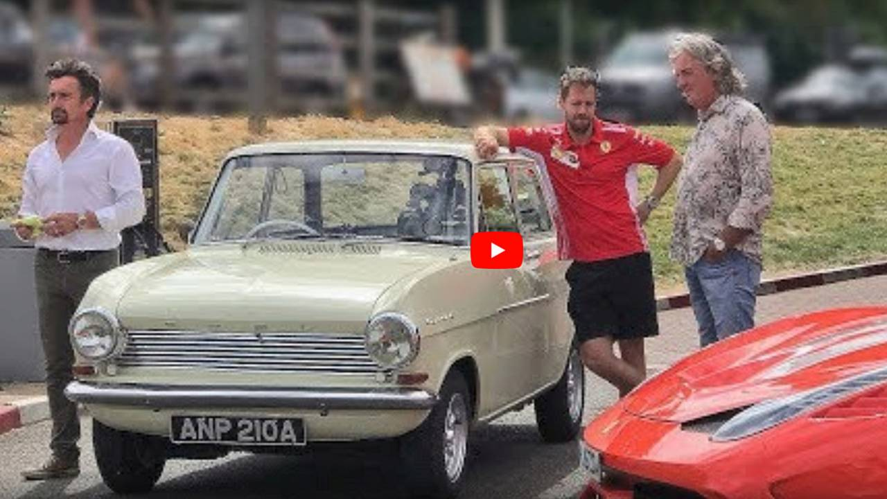 Sebastian Vettel spotted filming with The Grand Tour