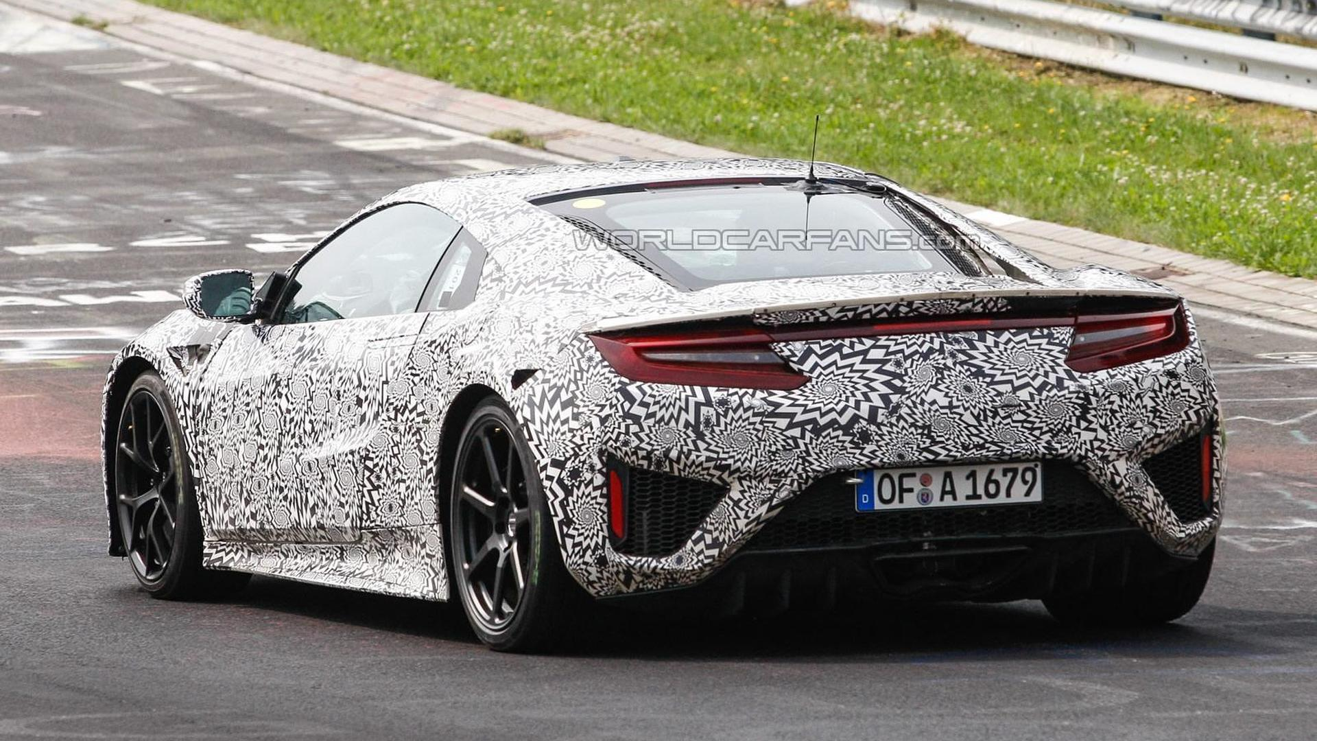 2015 Honda Acura Nsx Spied At The Nurburgring Hiding Production Body