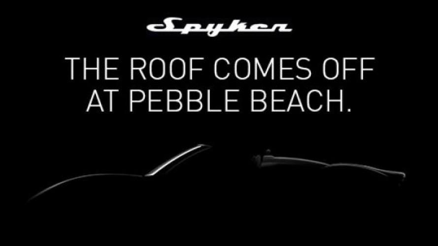 Spyker B6 Venator Spyder Concept, appuntamento a Pebble Beach