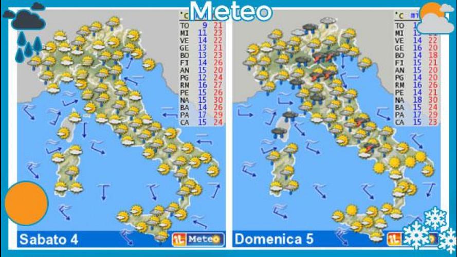 Meteo del fine settimana 4 e 5 maggio: pioggia e sole