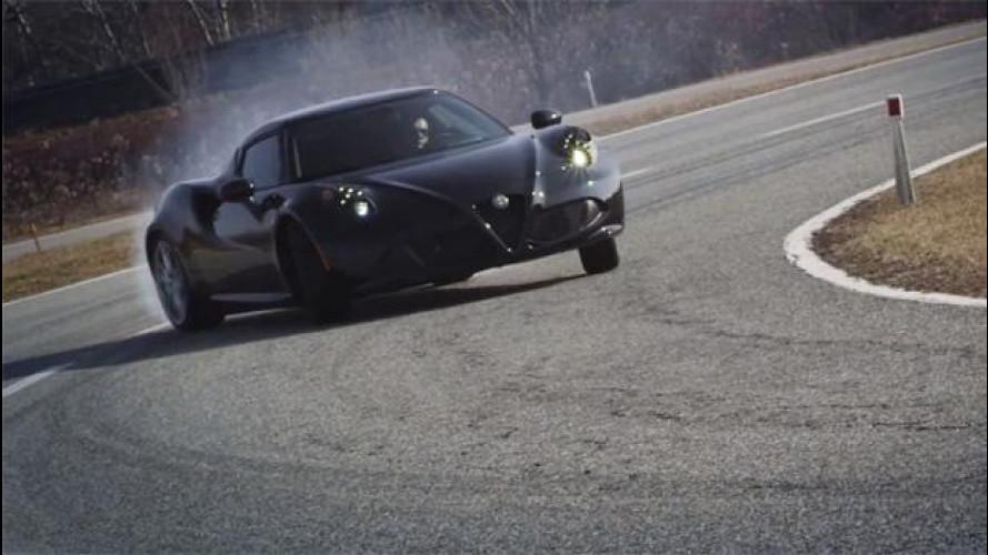 Alfa Romeo 4C, il video in pista a Balocco